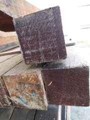 Hardhout 70x70mm ruw...